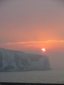 Sunrise over Dover