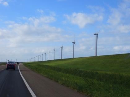 Dutch Dike & Wind Turbines