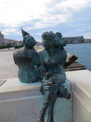 Even the statues look windswept