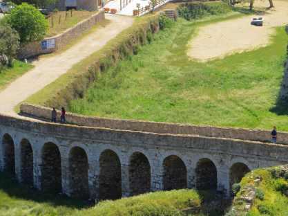 The only landward entrance, Fort Methoni